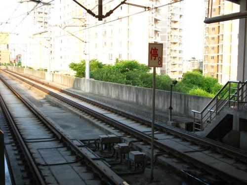 这里是张江地铁站,还在地面上的时候